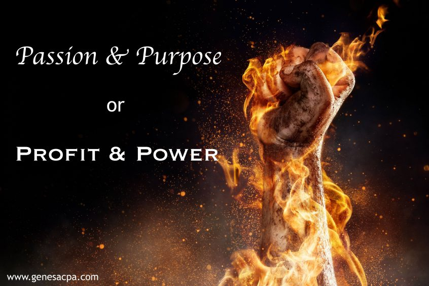Passion purpose or profit power